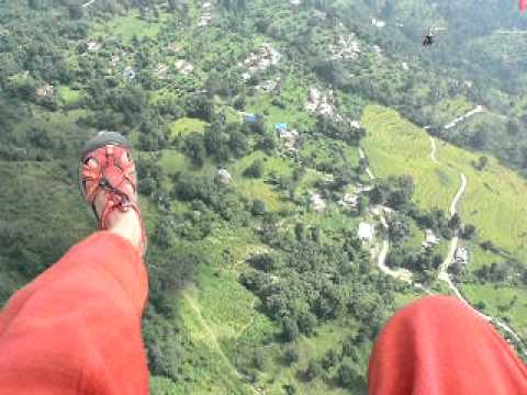 Marina's paragliding (Pokhara, Nepal).MOV