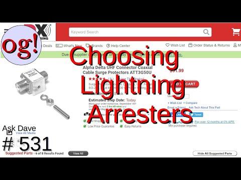 Choosing Lightning Arresters (#531)