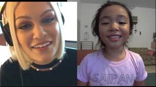 Flashlight JessieJ and Bernice Shane 9 yo Smule Sing! Karaoke App(Saipan-CNMI)