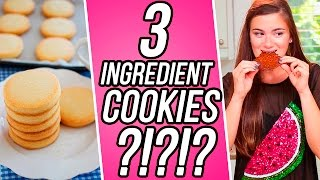 3 Ingredient Shortbread Cookies?! 3 Items Or Less w/ CloeCouture