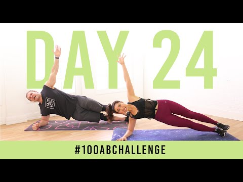 Day 24: 100 Side Plank Dippers!   #100AbChallenge w/ Buff Dude