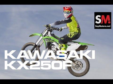 Kawasaki KX250F 2017: Prueba Moto Motocross [FULLHD]