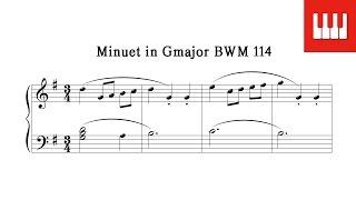 바흐 미뉴에트 (Minuet in Gmajor BWM 114) - 바흐 (Johann Sebastian Bach)