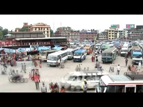 City Bus Park, time lapse, Nepal
