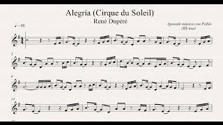 ALEGRÍA (CIRQUE DU SOLEIL): Bb inst (clarinete,trompeta,saxo sop/tenor)(partitura con playback)