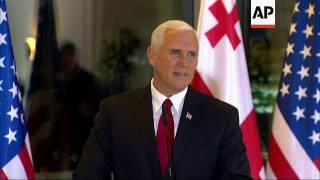 Pence Praises U.S.-Georgia Strong Bond