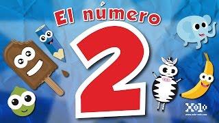El número 2 en español para niños - Videos Aprende