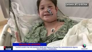 Luego de una caída, una daga metálica atravesó el cráneo de un niño de 10 años y se salvó de milagro