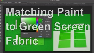 Matching My Green-Screen Fabric with a Green Screen Paint