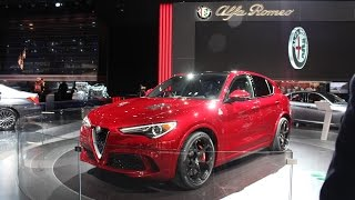 2018 Alfa Romeo Stelvio at the 2017 NAIAS Detroit Auto Show