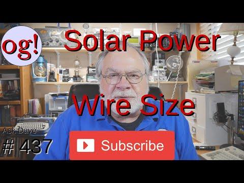 Solar Power Wire Size (#437)