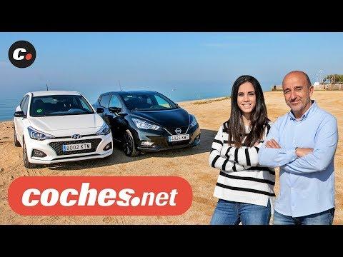 Nissan Micra vs Hyundai i20 2019 | Prueba Comparativa / Test / Review en español | coches.net