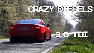 Audi A5 3.0 TDI Crazy Diesel Sound Compilation Part 1