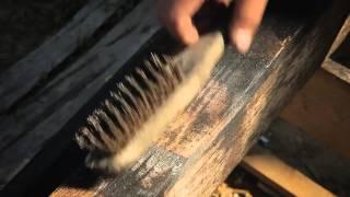 "Japanese technique of preserving/antiquing wood ""Shou-sugi-ban Yakisugi 焼き杉""."