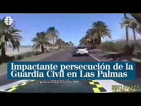Impactante persecución de la Guardia Civil en Las Palmas