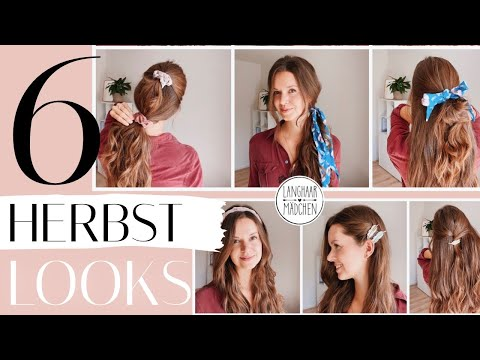 Herbstlooks für die Haare mit den Langhaarmädchen