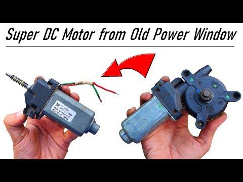 Do Not Throw Away your Car Power Window Motor - 12v 6 Amps DC Motor Salvage DIY