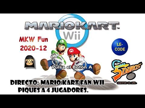 DIRECTO: MARIO KART FAN WII (2020-12) PIQUES A 4 JUGADORES