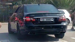 Mercedes E63 AMG in Budva - Acceleration & Powerslides