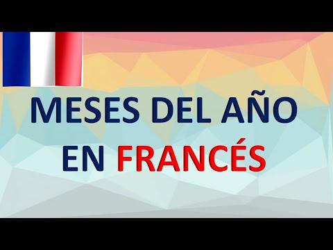 Los meses del año en Francés y Español - Les mois de l'année en français et en espagnol