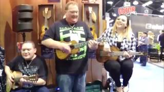 NAMM 2017 - KALA Ukulele - The Happiest LIVE Ukulele Music Band EVER!