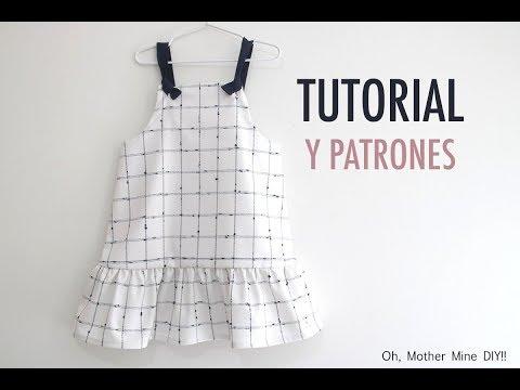Patrones vestido de cuadros para niñas (gratis hasta talla 8 años)
