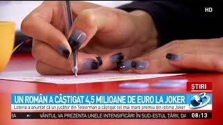 Un român a câştigat 4,5 milioane de euro la Joker