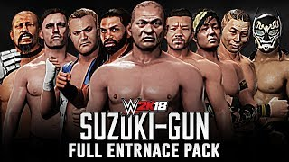 WWE 2K18 - Suzuki-Gun Full Entrance Pack [Minoru Suzuki, Zack Sabre Jr & Taka Michinoku]