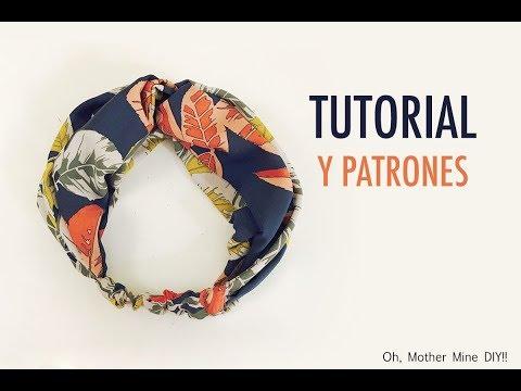 Patrones gratis y como hacer turbante para mujer