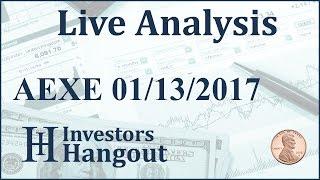 AEXE Stock Live Analysis 01-13-2017