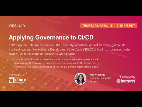 LF Live Webinar: Applying Governance To CI/CD