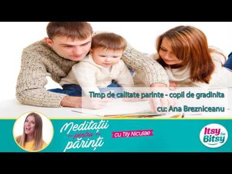 Timp de calitate parinte - copil de gradinita