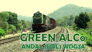 The Green ALCo locomotive: Andal WDG3A powers a cargo train towards Kamakhya Jn