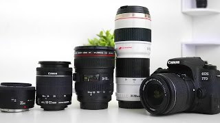 Best Lenses for the Canon 77D!