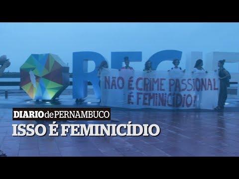 Ato contra feminicídio no Marco Zero