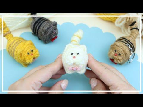 Маленький толстый Котик из Ниток для вязания 🐱🧶🐱 Cute Fat Cat of Yarn — Making Idea 🌟 DIY NataliDoma