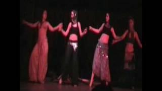 Female student Marija Jovic from TWC school Pozarevac performing belly dance
