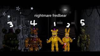 Fnaf Fredbear gang sing fnaf 1 song