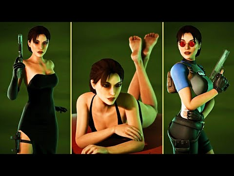 Tomb Raider 2   All Characters Models Showcase (Fan Nicobass Tomb Raider Remake )