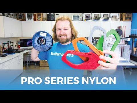 MatterHackers New PRO Series Nylon // Colorful Nylon 3D Filament