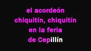 CEPILLIN   LA FERIA DE CEPILLIN KARAOKE