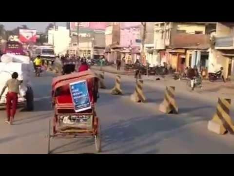 Rickshaw ride in Biratnagar, Nepal