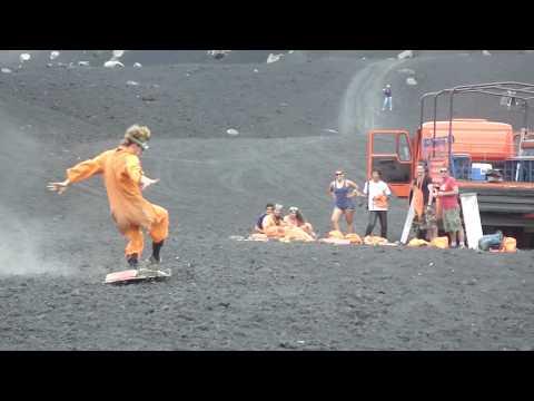 Volcano Boarding in Nicaragua with Big Foot Hostel