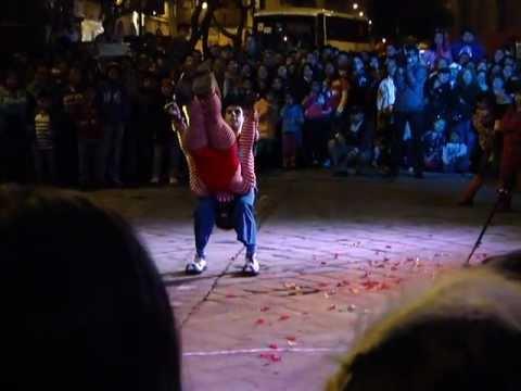 Acrobats at Noche de Luz, Cuenca, Ecuador 1