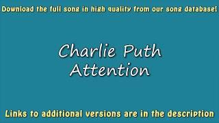 Charlie Puth - Attention (Karaoke Version) Lyrics