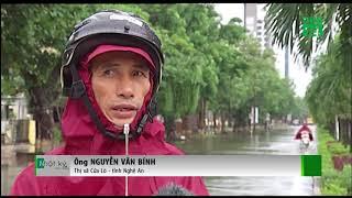Nhiều tuyến đường ở Nghệ An ngập sâu sau bão số 3   VTC14