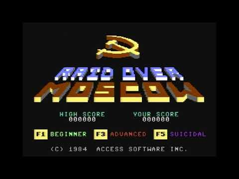 Raid Over Moscow Longplay en Vergonzoso Nivel Beginner - C64 Real 50hz