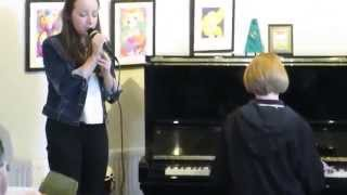 We Won't Run, sung by Nicole w Alanna on piano