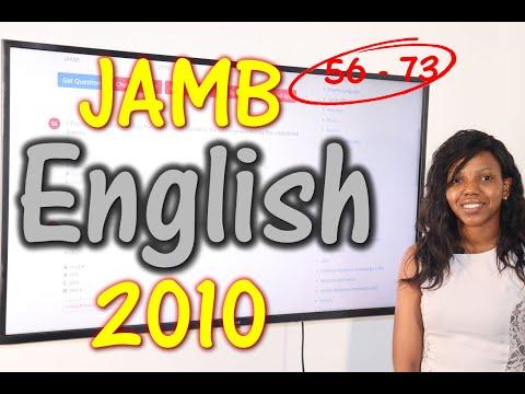 JAMB CBT English 2010 Past Questions 56 - 73