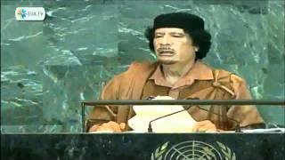 Khadafi dirige-se a Skills And The Bunny Crew (Agência Reuters)